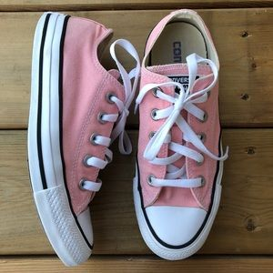 Converse Pink Check Taylor Low Runners Sneakers Running Shoes Lace Up Ladies 6